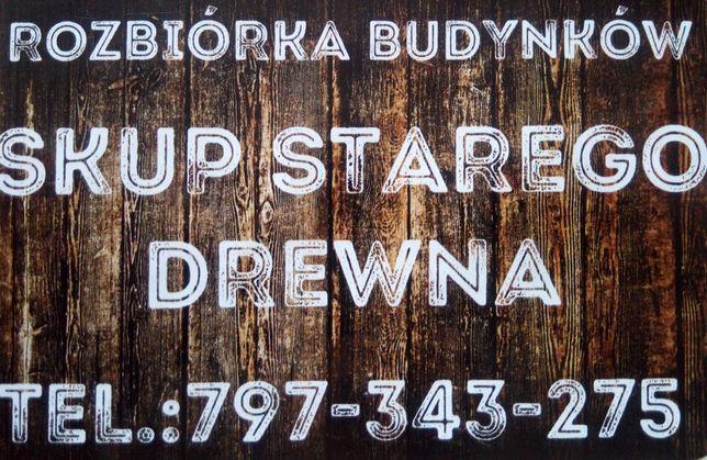 Stodoła rozbiórka budynków stara deska szopa Podkarpacie skup stodół