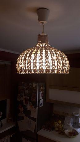 Lampa sufitowa plecionka