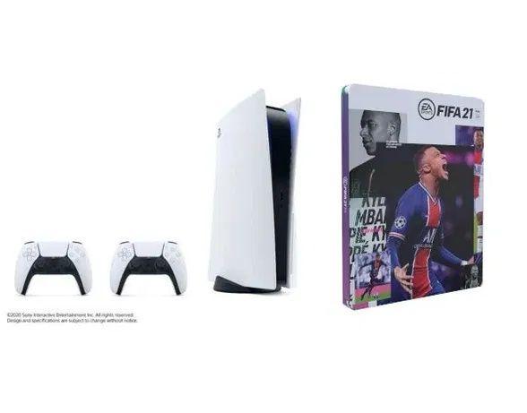 PlayStation 5 - 2 pady + FIFA 21 Steelbook- dostępna od 15 grudnia.