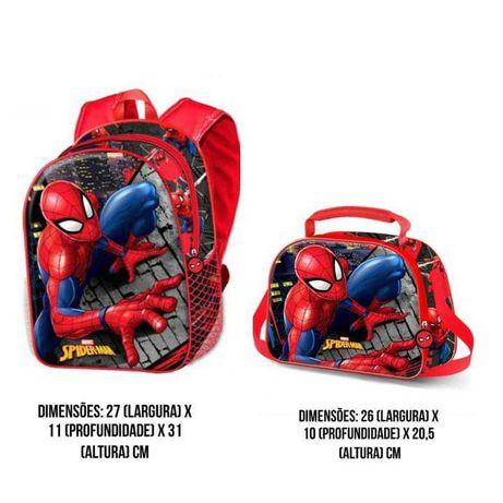 Mochila Spiderman para creche e pré escolar com imagem 3D