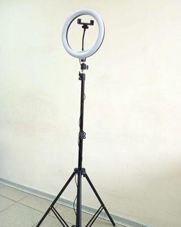 Штатив на 2,1м с лампой RGB кольцевая на 26см Комплект для блогера