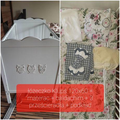 Łóżeczko dziecięce Klupś Marsell 3 poziomowe 120x60 białe
