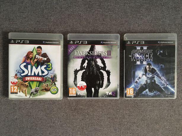 Sims 3 Zwierzaki PL Star Wars Force Darksiders PlayStation 3 PS3