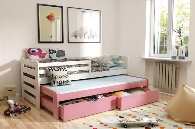 Sosnowe łóżko HAPPY z materacami gratis!