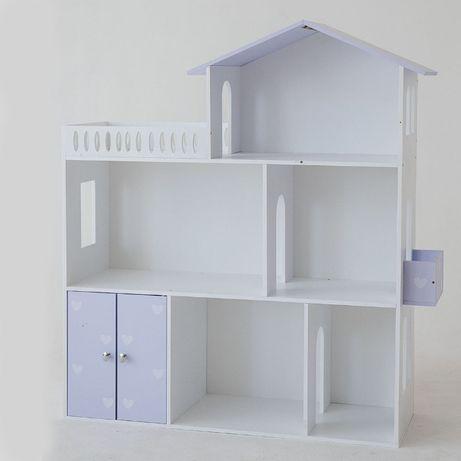 Кукольный домик 3 этажа Фиолетовый, дом для кукол