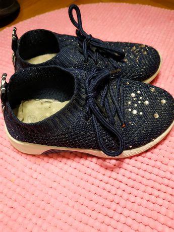 Кроссовки красовки сеточка с блёстками 28 синие кросівки з блискітками