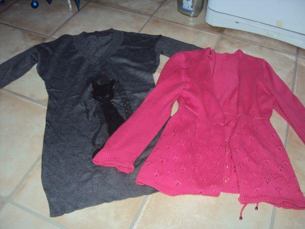 Sweter bluzka tunika długi rozpinany za dwa 25 zł