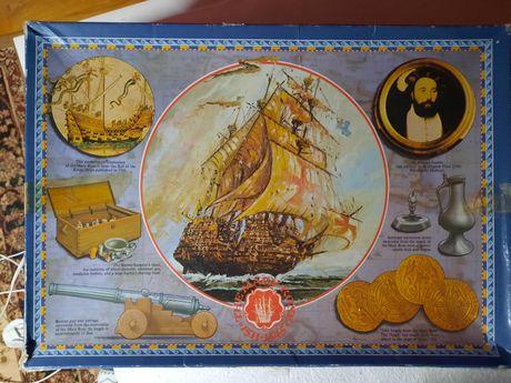 Puzzle mapa statek