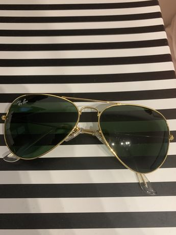 Okulary aviator ray ban złote