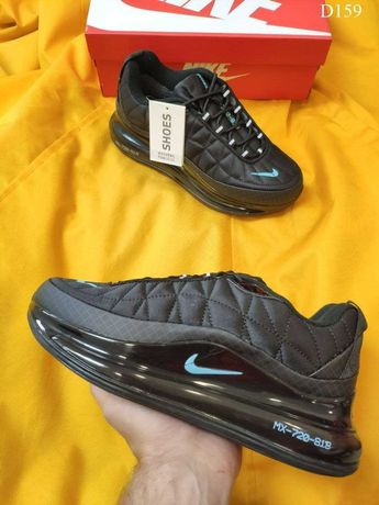Мужские кроссовки Nike Air Max AM720-818 (черно/бирюзовые) D159
