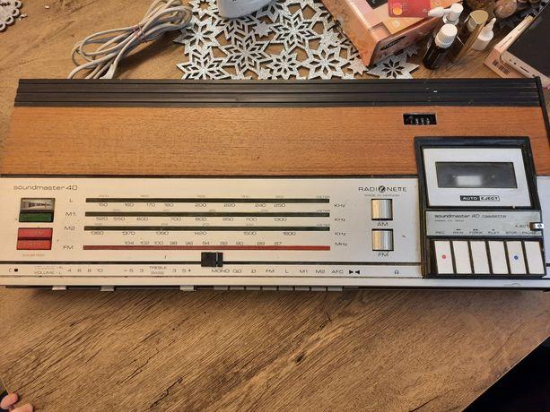 Radio+ odtwarzacz kasetowy z lat 70.