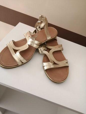 Damskie złote sandały r 40