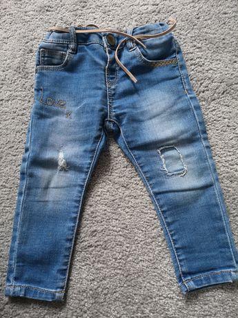 Spodnie jeansy Zara 80 dziewczynka