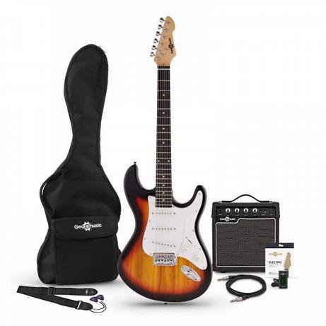 Guitarra Eléctrica com amplificador