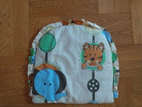 Komplet poduszka+kołderka do wózka i nie tylko, safari ZOO