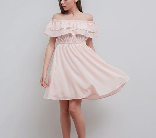 Романтичное шифоновое платье с воланами