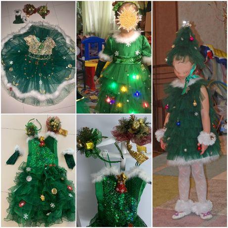 карнавальный костюм елочка елка платье елочки елки