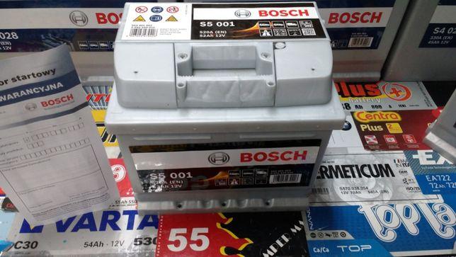 Akumulator Bosch S5001 12V 52Ah 520A C6 P+ dowóz montaż Kraków Azory