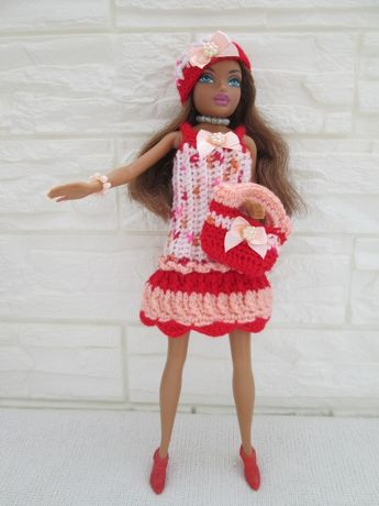 Lalka Barbie Mulatka*Ubranka*Akcesoria*40szt+Lalka*Oryginalna*