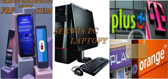 Serwis Komputerów / Laptopów / Telefonów / BLOKADY  Odblokowanie TANIO