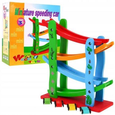 Zabawka Z Drewna Dla Dziecka Drewniany Tor Autka Mwz-3028