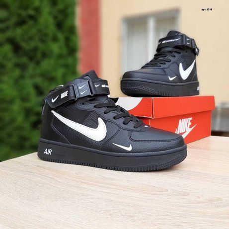 3558 Nike Air Force 1 Mid LV8 кроссовки найк аир форс зимние мех