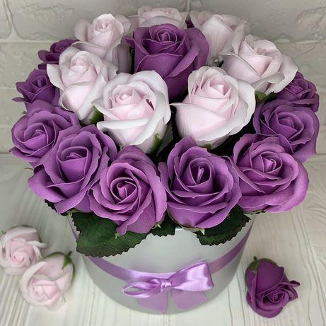 Подарунок на День Народження! Троянди з мила,мильні квіти,букет з мила