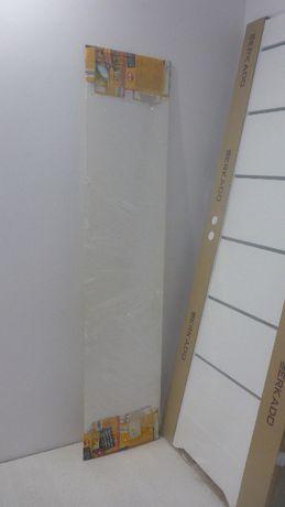 meble BESTA ikea panel górny białe szkło 180x40