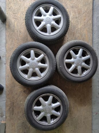 Felgi aluminiowe + opony VW passat / golf 3
