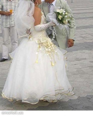 Оригинальное торжественное, свадебное, выпускное платье 42-44-46 р