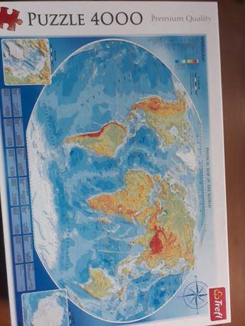 Trefl 4000 mapa fizyczna świata