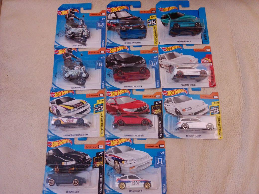Hotwheels Honda Civic EF-1/Type R/CRX/City Turbo2/Acura Integra/Monkey