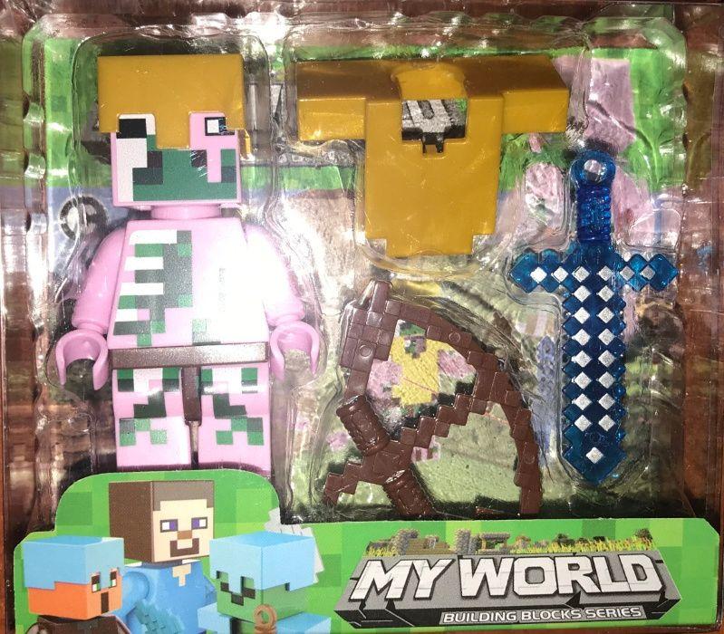 Różowa Figurka Minecraft dla Dzieci Zabawka
