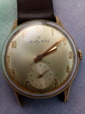 Relógio antigo. WALTY WATCH. Plaque Ouro