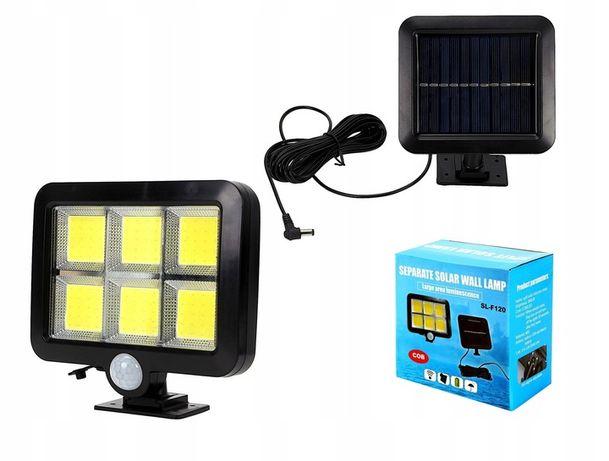 LAMPA SOLARNA z czujnkiem ruchu zmierzchu 120 LED dzielona