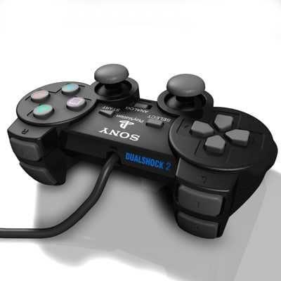 Проводной геймпад Dualshok PS2.Джойстик для Sony пс2