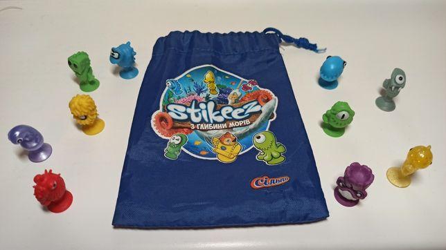 Липучки игрушки Stikeez из коллекции сильпо, фирменный мешочек