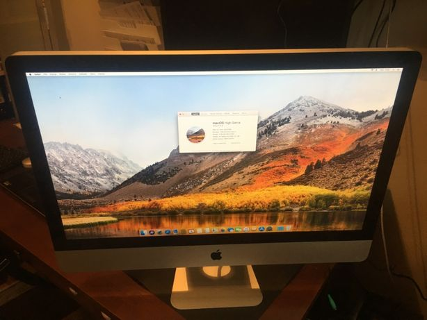 "Apple Imac 27"" i5 2,66GHz 8gb 1000GB Ati HD 4850"