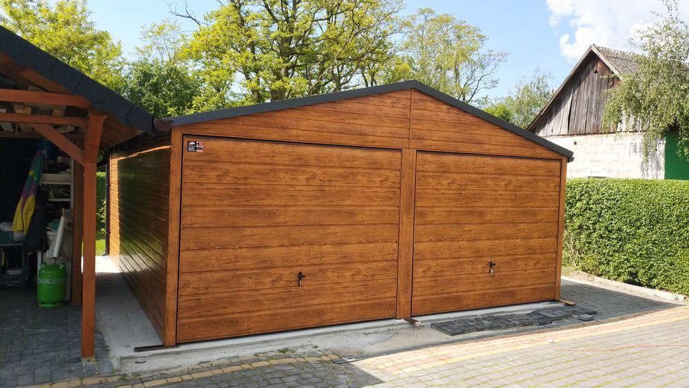 Garaż blaszany drewnopodobny 6x6 profil zamknięty 6x5 5x5 garaż Kielce - image 1