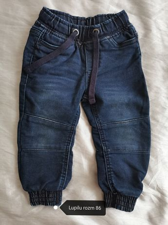 Spodnie bawełniane jeansowe rozmiar 86
