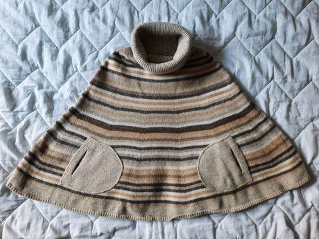 Накидка пончо пальто шерсть GAP женское подростковое шерсть xs-s