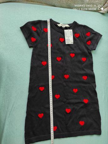Новое фирменное хлопковое платье  H&M 4-6 лет, рост 110-116