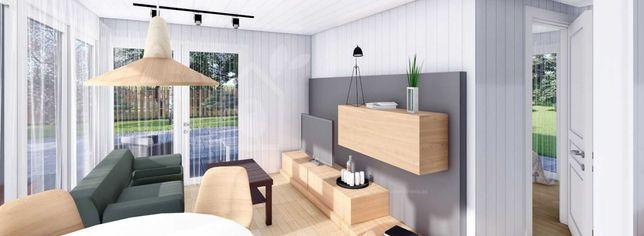 Casas Madeira Modulares + Capoto 100mm + Gesso  / Bangalô 42mt2