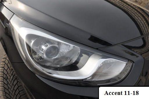 Новые фары с линзами Hyundai accent 2011-2018 (акцент)