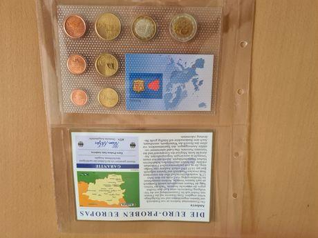 Zestaw monet Euro 2006 r. Andora od 1 eurocent do 2 Euro