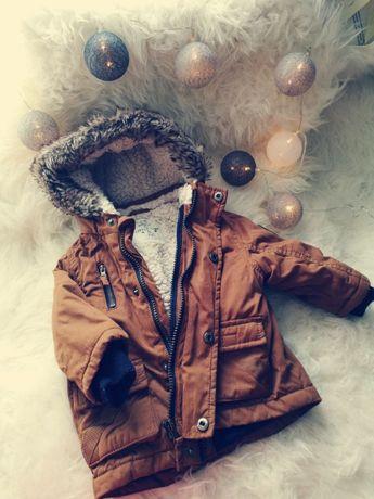 kurtka zimowa chłopięca F&F, rozm. 6-9 mcy + Gratis