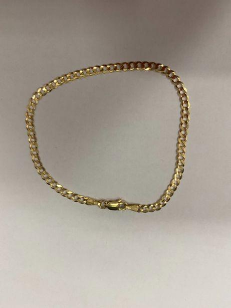 klasyczna złota bransoletka p585 3,84g