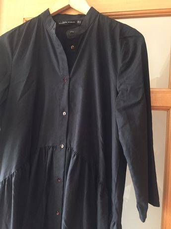 Vestido camiseiro Zara preto