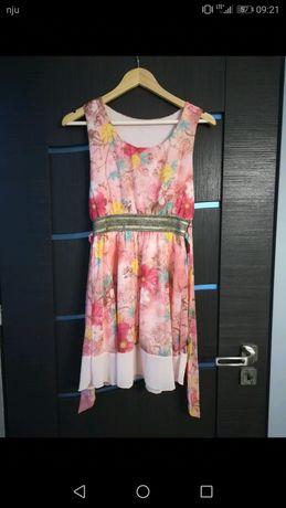 Włoska sukienka w kwiaty