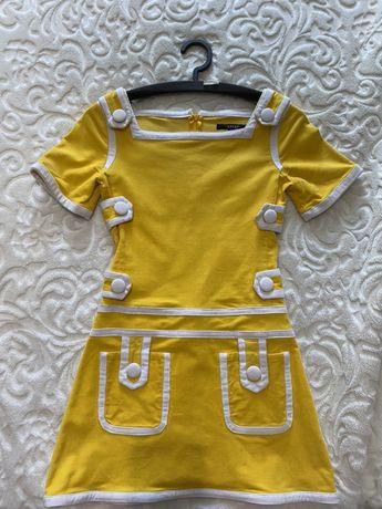 Платье gucci желтое